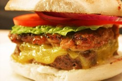 Bison Burger with Egmont Cheese