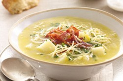 Photo of Potato Leek Soup made with Mainland Cheese