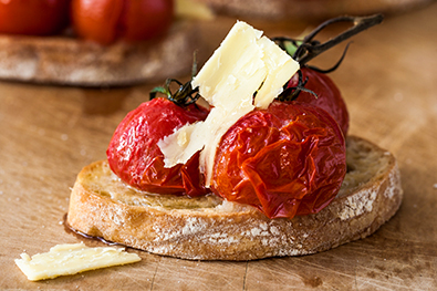 Sour-dough-toasts-roasted-vine-ripened-tomatoes